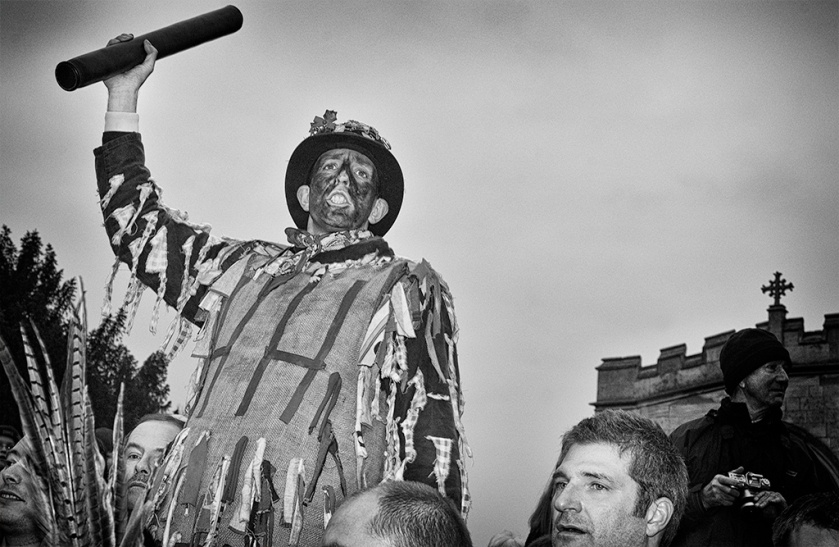 The Fool holding the Hood at Haxey