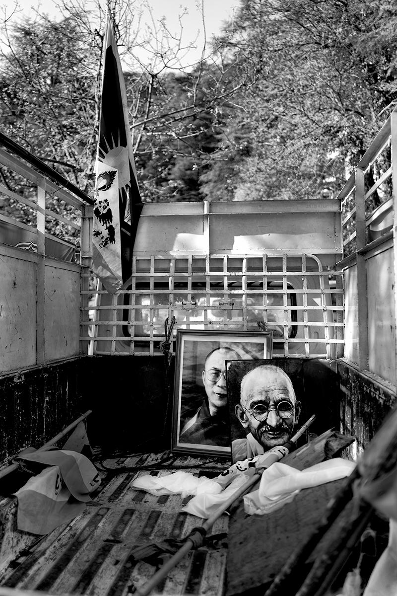 Gandhi-in-a-truck