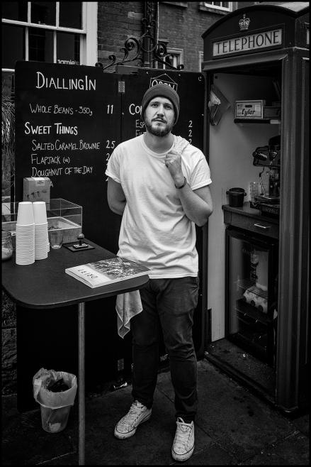 Barista in Micro Coffee Shop. Nottingham 2017