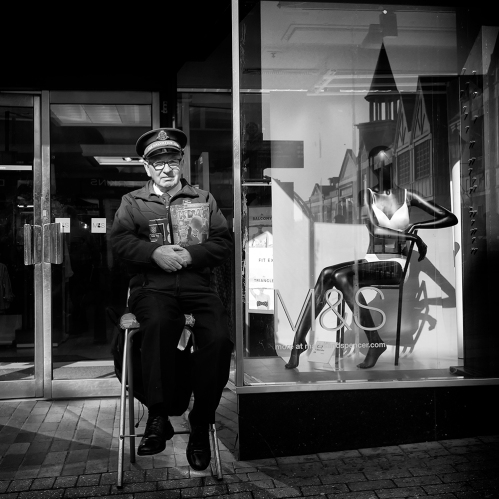 Salvation Army worker. Lincoln 2017
